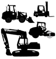 Machinery Set of silhouettes of road service vector image