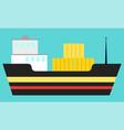 maritime transport goods delivering vector image