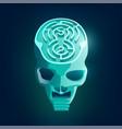 maze skull vector image vector image
