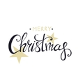 Merry Christmas Lettering Design Happy New Year vector image