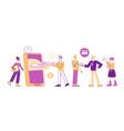 micro credit finance organization service concept vector image