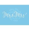 Mr Mrs Wedding simple lettering decor