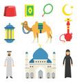 national muslim cultural symbols koran rosary vector image