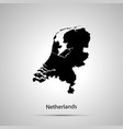 netherlands country map simple black silhouette vector image vector image