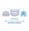 Orthodontics concept icon
