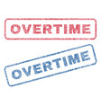 overtime textile stamps vector image vector image