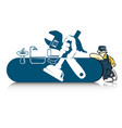 plumber for repair with a tool vector image vector image