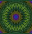 psychedelic mandala fractal background vector image vector image