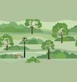 rural landscape background seamless summer nature vector image vector image