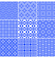 set elegant floral seamless greek patterns vector image