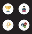set of idea icons flat style symbols with sponsor vector image