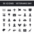 set simple icons veterans day vector image vector image