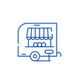 shop pickup line icon concept shop pickup flat vector image