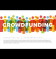 simple crowdsourcing concept made from people vector image vector image