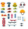 skateboarder active sport tools extreme outdoor vector image vector image