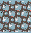 smile rhino seamless pattern vector image