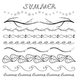 Summer hand drawn border set vector image vector image