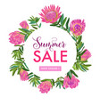 summer sale floral banner seasonal discount vector image