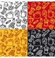 tea seamless patterns vector image vector image