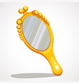 the cartoon is a hand mirror vector image vector image