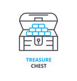 treasure chest concept outline icon linear sign vector image