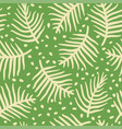 tropical palm or ferm leaves seamless pattern vector image vector image