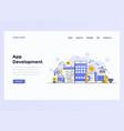 web design flat template concept app development vector image