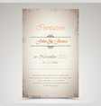 wedding announcement in old style template vector image