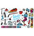 winter sports season vintage snowboarding and vector image vector image