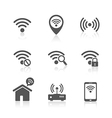 Wireless local network internet access point icons vector image vector image