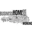 work at home business opportunities thrive in vector image vector image