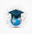 world hat graduate vector image vector image