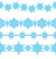 set of seamless Christmas borders vector image