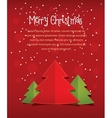 Merry christmass card with text red vector image