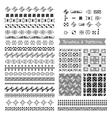 Set of decorative elements brushes border vector image