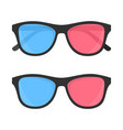 3d glasses for cinema vector image vector image