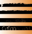 4 Black Grunge Strips 1 vector image vector image