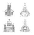 architecture and faith sign vector image