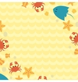 Art summer background with place for your message vector image