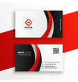 awesome red business card design template vector image vector image