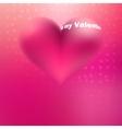 beautiful pink glossy heart shape EPS8 vector image