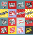 big set typographic for sale and promotion vector image