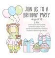 birthday invite color set vector image