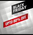 black friday sale discount poster with shiny vector image vector image