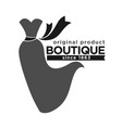 boutique with original production since 1863 vector image vector image