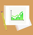 business chart graphic graph data diagram vector image