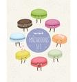 Cartoon cupcakes set vector image