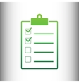 Checklist sign Green gradient icon vector image