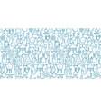 chemistry flask beaker equipment seamless pattern vector image vector image