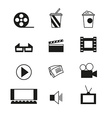 Cinema sign and symbol set vector image vector image